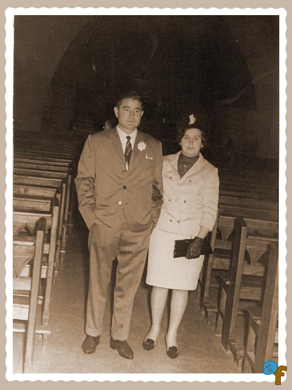 Mi esposa y yo en la boda de un hermano