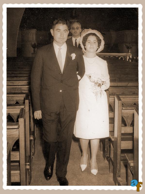 Mi esposa y yo el día de nuestra boda