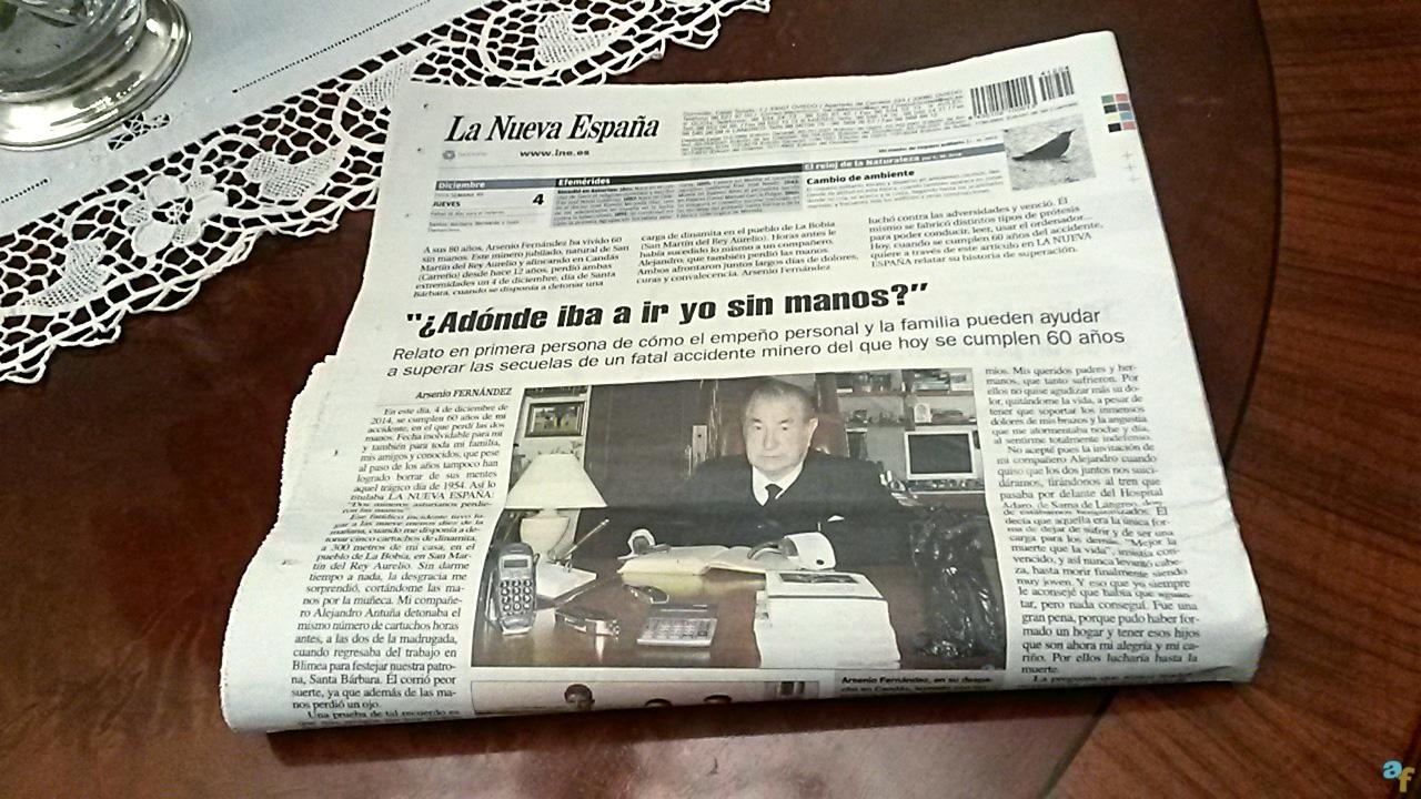Artículo en La Nueva España